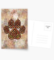 Celtic Knot Pawprint - Prints and Cards Postcards