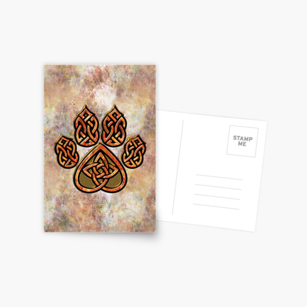 Celtic Knot Pawprint - Prints and Cards Postcard