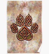 Celtic Knot Pawprint - Prints and Cards Poster