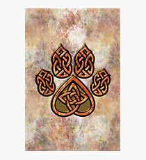 Celtic Knot Pawprint - Prints and Cards Photographic Print