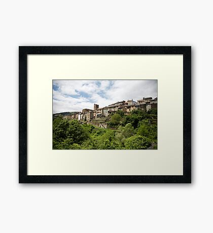 ruralscapes #97, from the garden  Framed Print