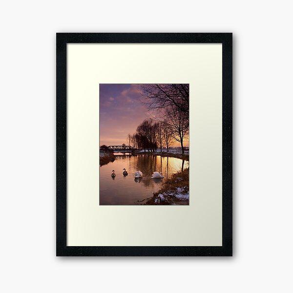 Winter Sunset on the River Waveney Framed Art Print