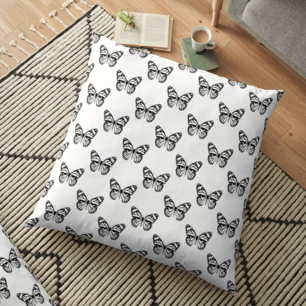 Monarch Butterfly Pattern   Monarch Butterfly   Vintage Butterflies   Butterfly Patterns   Black and White    Floor Pillow