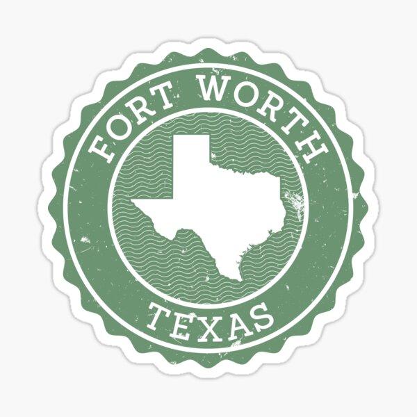 Fort Worth, Texas (Stamp) Sticker