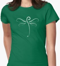 Swirly Dragonfly Tee (for dark Tee's) Womens Fitted T-Shirt
