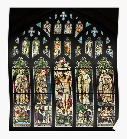 The East Window of Troutbeck Church, Cumbria Poster