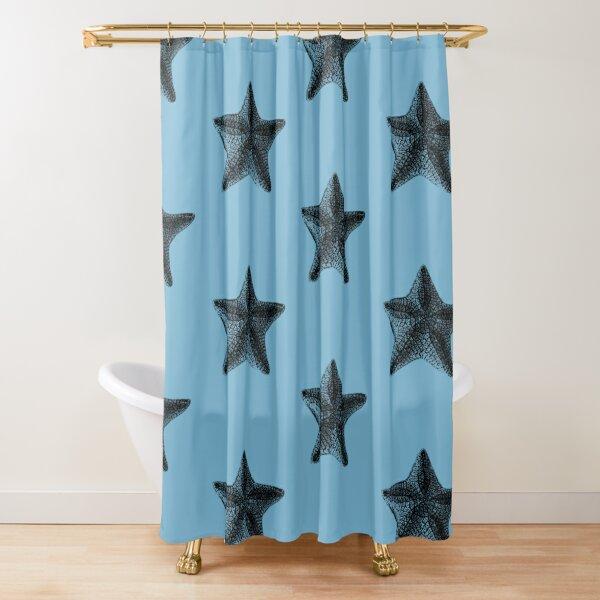 Star. Pretty starfish design Shower Curtain