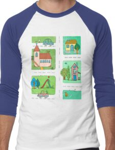 A Quiet Afternoon in Town Men's Baseball ¾ T-Shirt