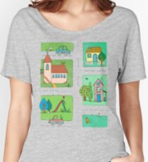A Quiet Afternoon in Town Women's Relaxed Fit T-Shirt