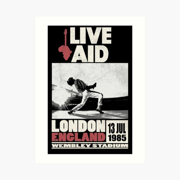 Live Aid at Wembley Art Print