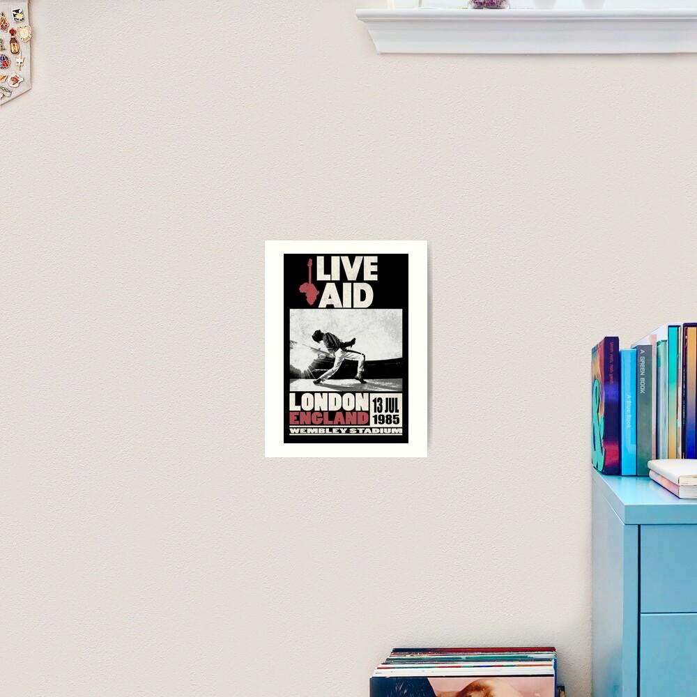 Live Aid at Wembley Art Print