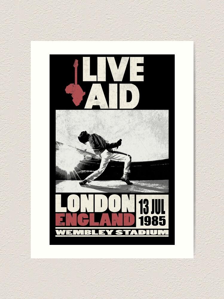 Alternate view of Live Aid at Wembley Art Print