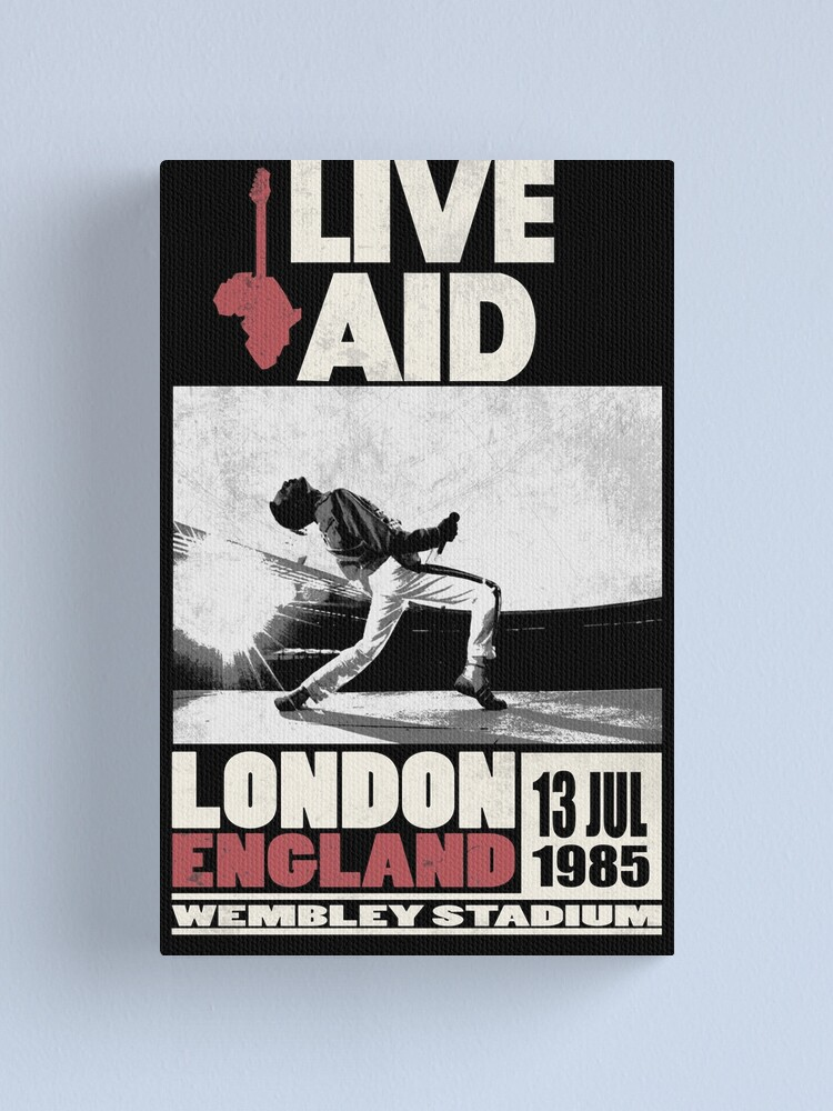 Alternate view of Live Aid at Wembley Canvas Print