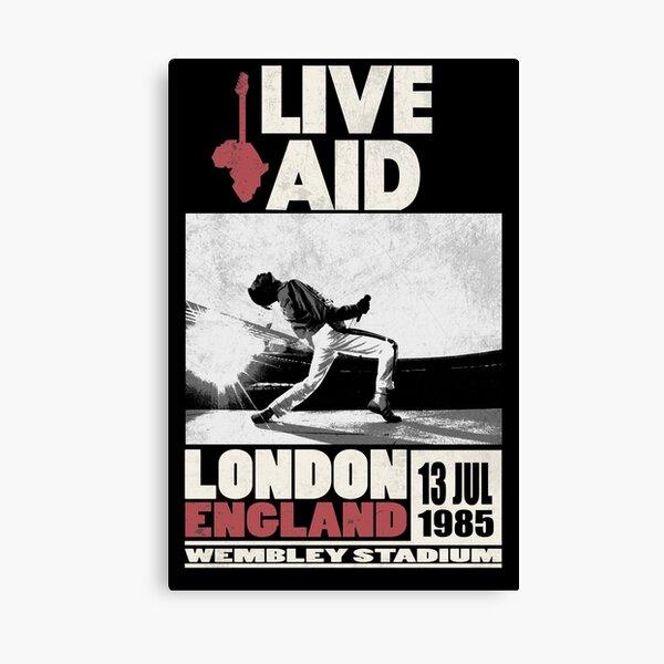 Live Aid at Wembley Canvas Print