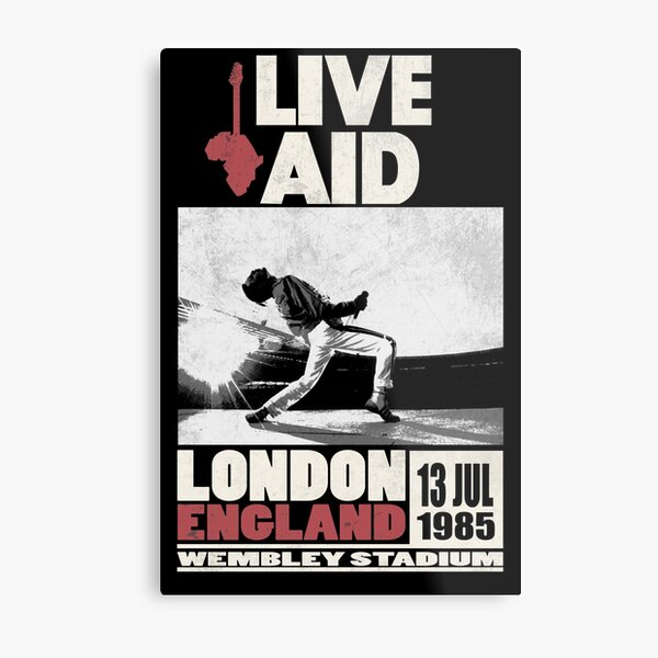 Live Aid at Wembley Metal Print