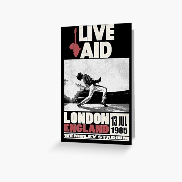 Live Aid at Wembley Greeting Card