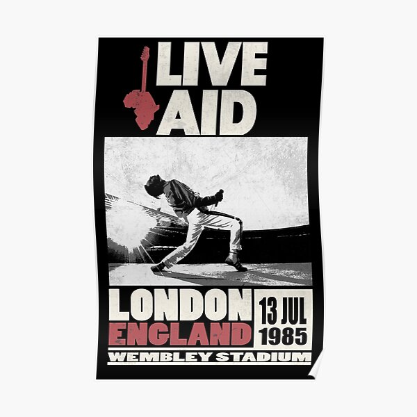 Live Aid at Wembley Poster