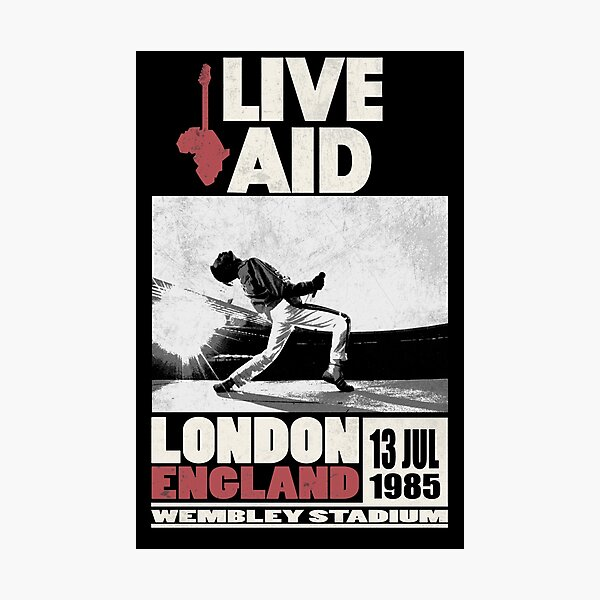 Live Aid at Wembley Photographic Print
