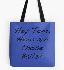 Tom Balls Blue Tote Bag