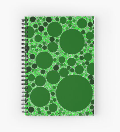 Random Tiling Greener Spiral Notebook