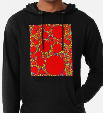 Random Tiling Red Lightweight Hoodie