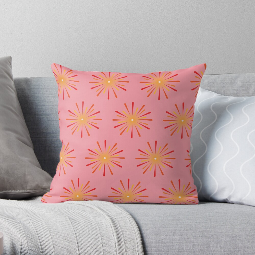 I love fireworks Throw Pillow