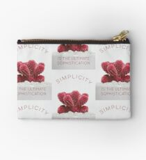 Simplicity is the ultimate sophistication Zipper Pouch