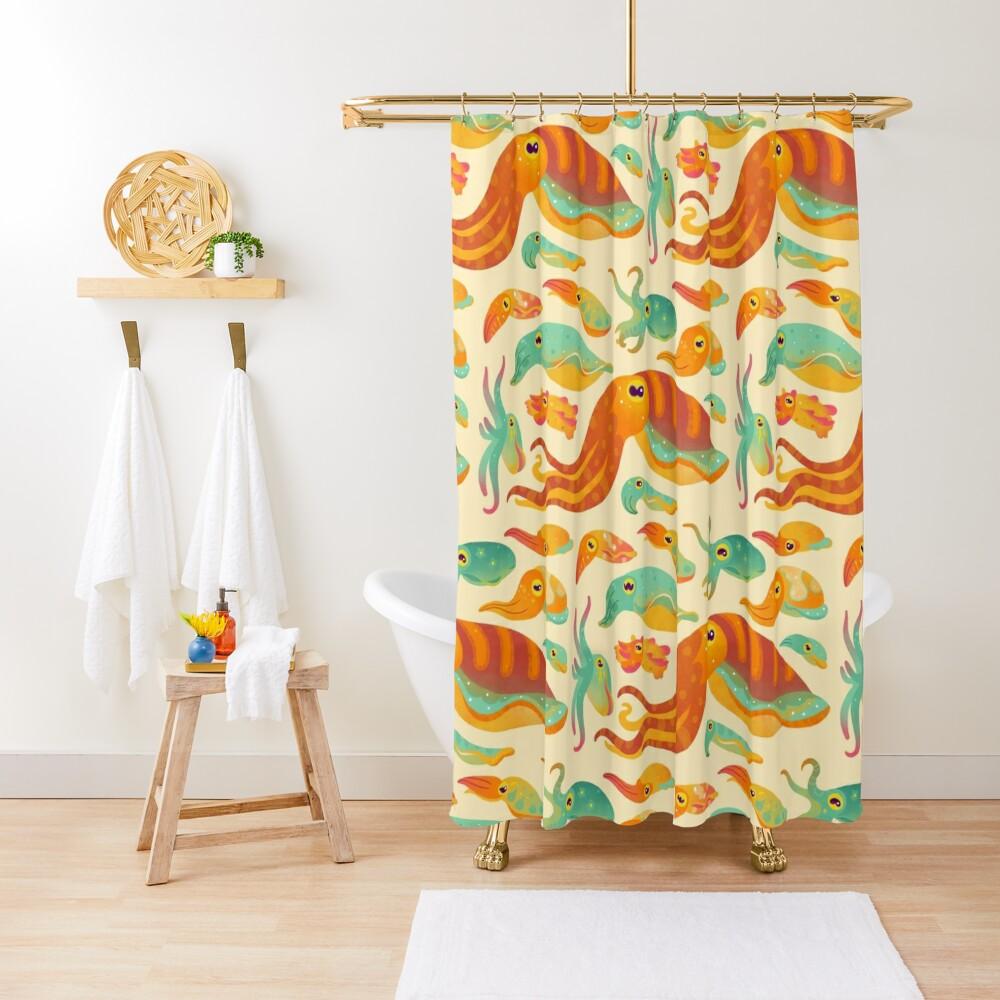 Cuttlefish Shower Curtain