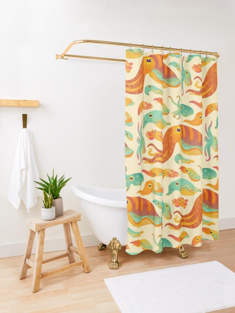 Alternate view of Cuttlefish Shower Curtain