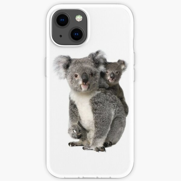 koala and her joey iPhone Soft Case