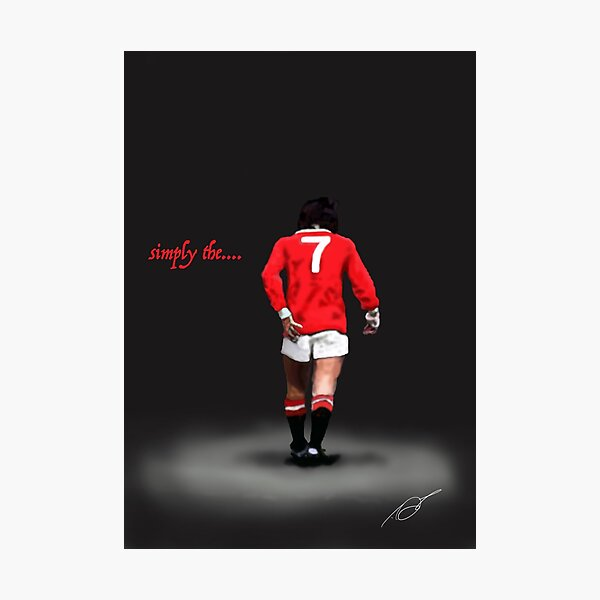 simply the...... Best. George Best. Legend  Photographic Print