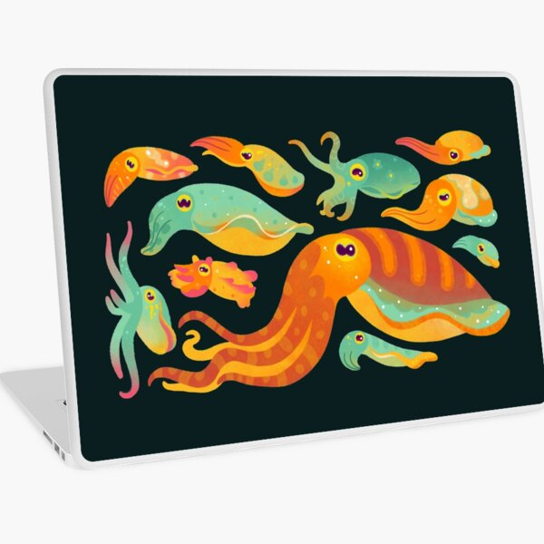 Cuttlefish - dark Laptop Skin