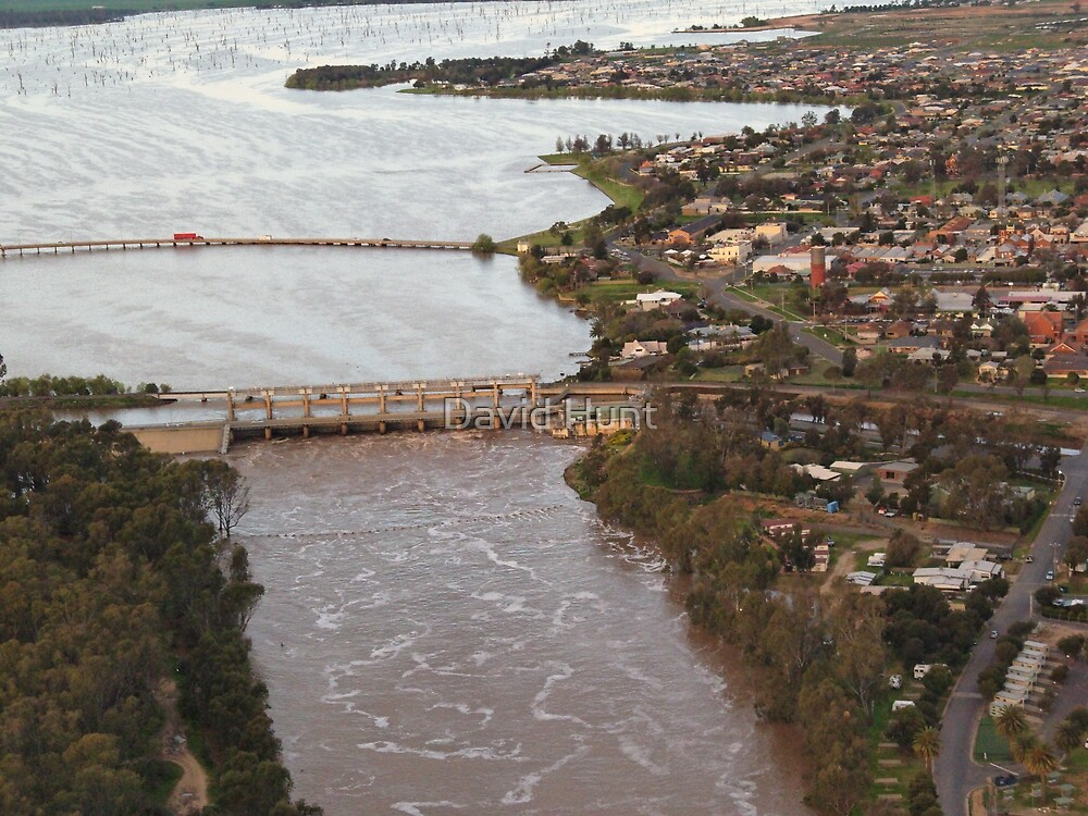 Yarrawonga And Weir Flood Water By David Hunt Redbubble
