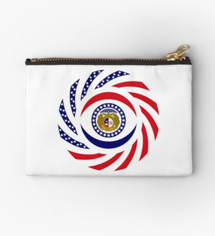 Missouri Murican Patriot Flag Series Zipper Pouch