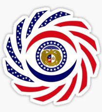Missouri Murican Patriot Flag Series Sticker