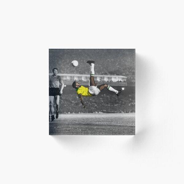 Brazil's Legend Pele Acrylic Block
