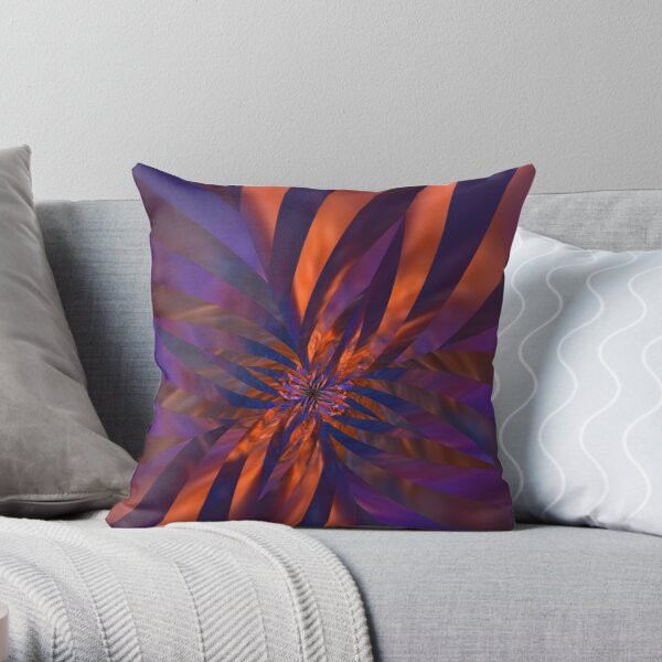Abstract in Orange and Purple Throw Pillow