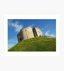 Cliffords Tower - York Art Print