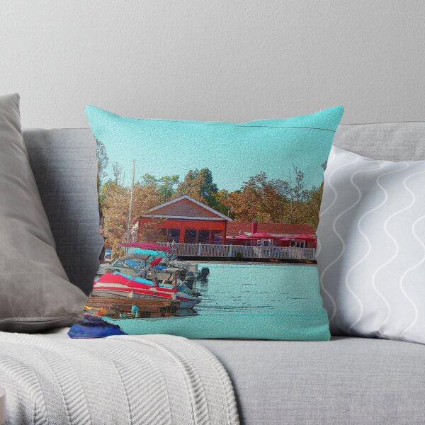 TJ's Dockside Throw Pillow