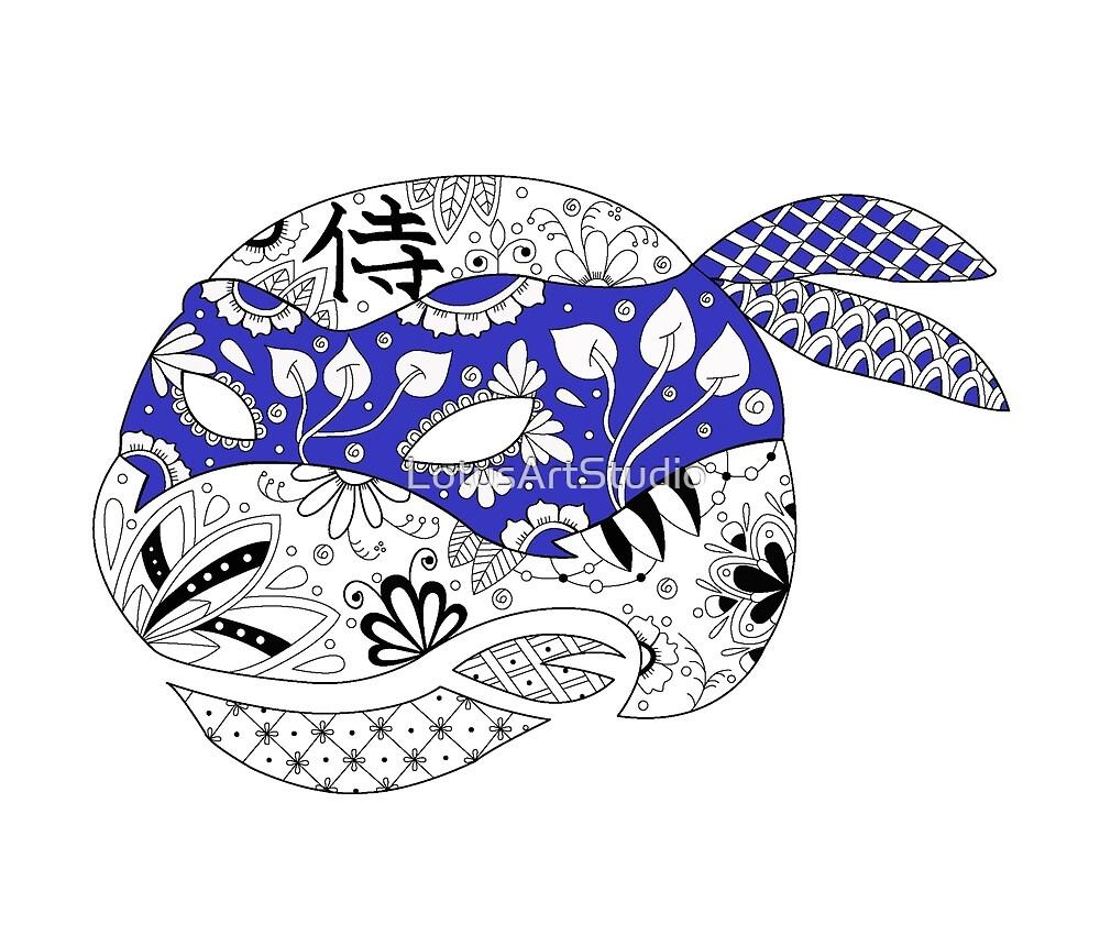 TMNT LEONARDO BLUE by LotusArtStudio