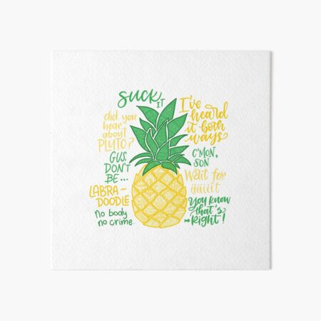 Psych - Quotes Art Board Print