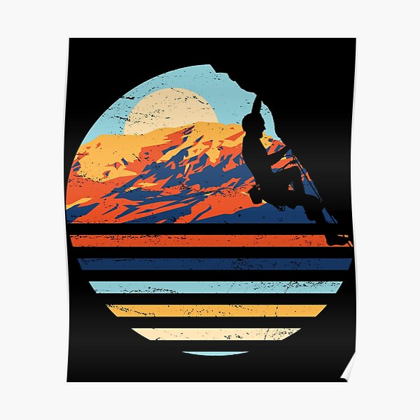Minimalist Rock Climbing Bouldering Gift design for Rockers Poster