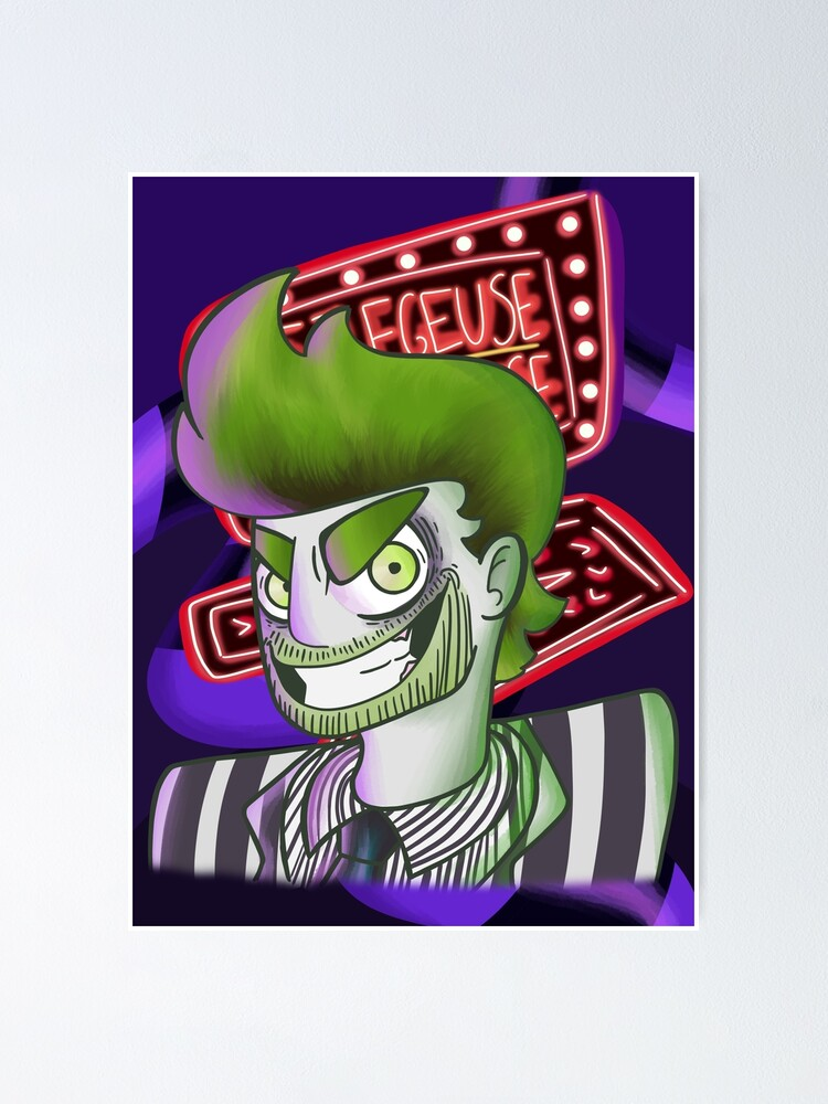 Beetlejuice Musical Fanart Poster By Loss Of Things Redbubble