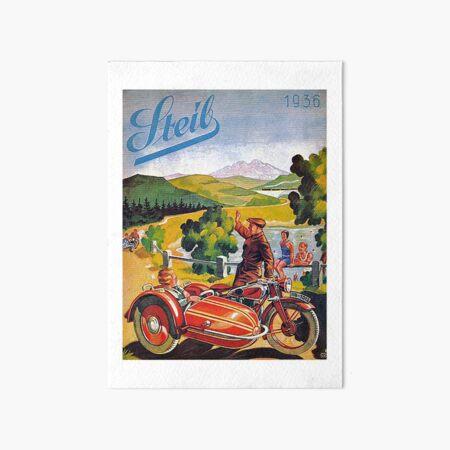 Vintage 1936 Steib Motorcycle Sidecar Advertisement Art Board Print