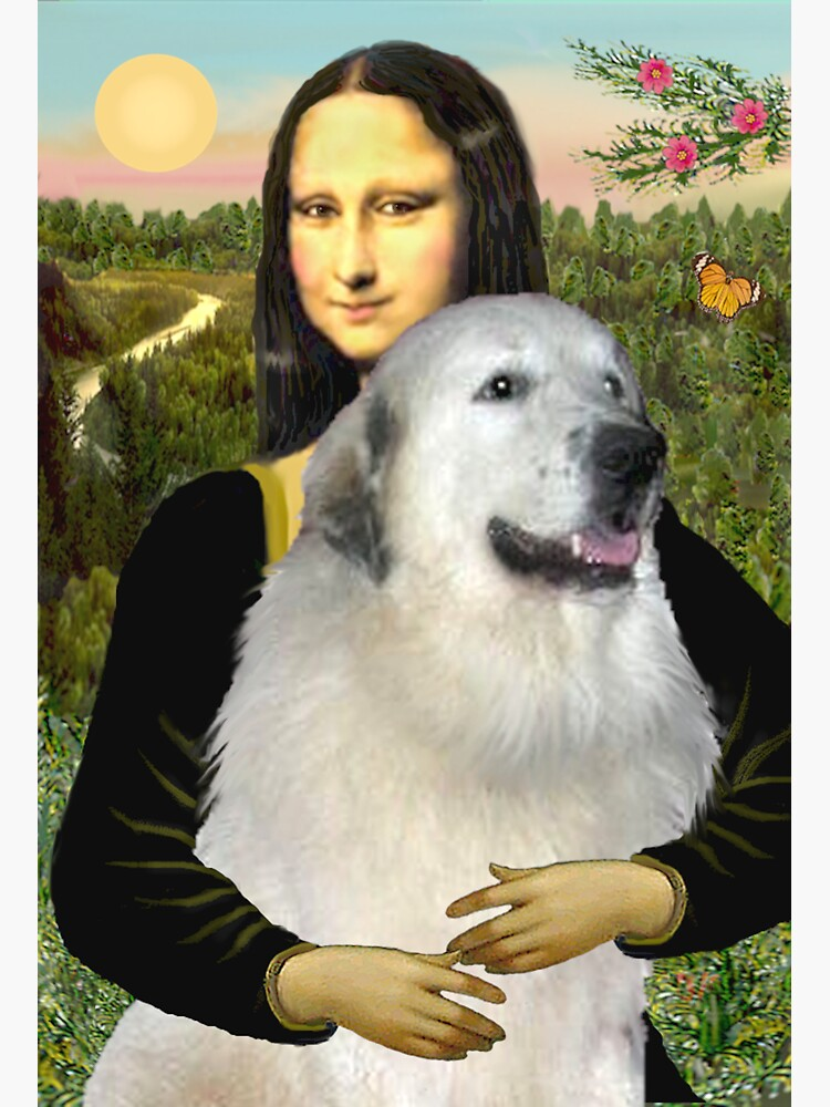Mona Lisa and her Great Pyrenees by JeanBFitzgerald