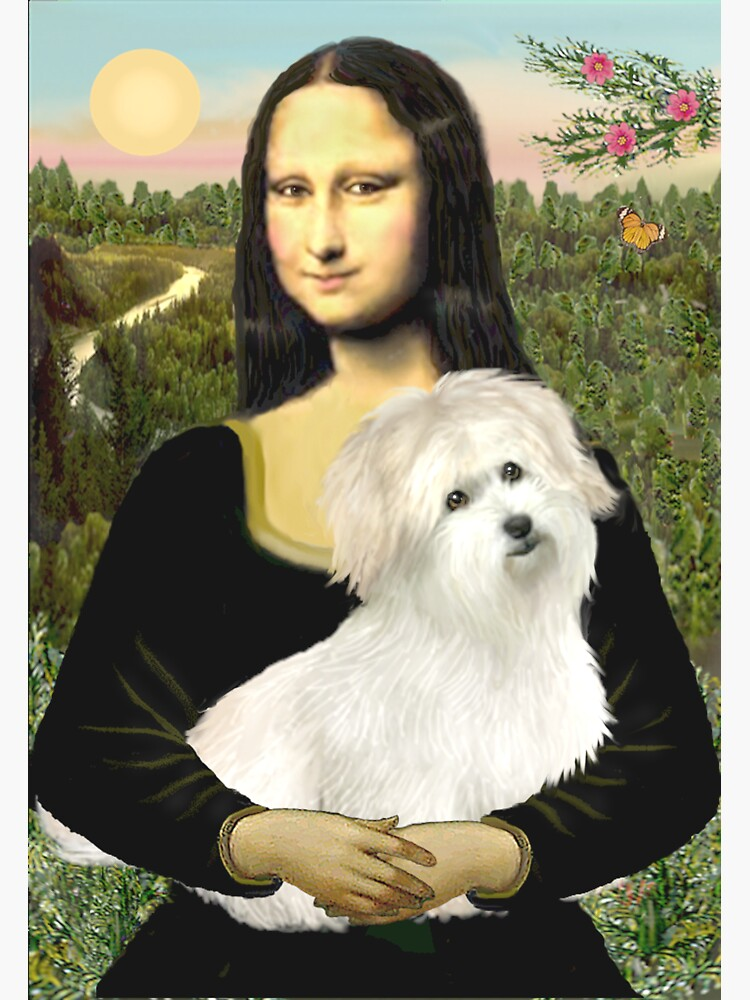 Mona Lisa and her Coton de Tulear by JeanBFitzgerald