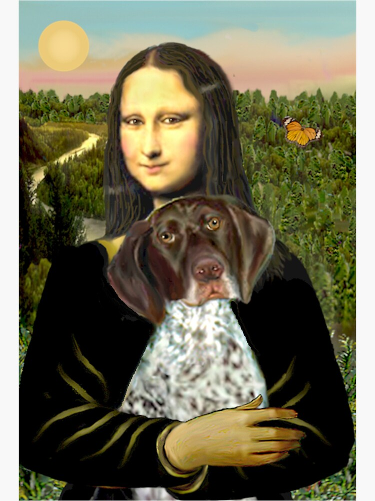 Mona Lisa and her German Short Haired Pointer by JeanBFitzgerald
