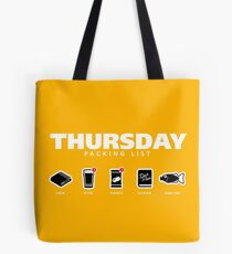 THURSDAY - The Hitchhiker's Guide to the Galaxy Packing List Tote Bag