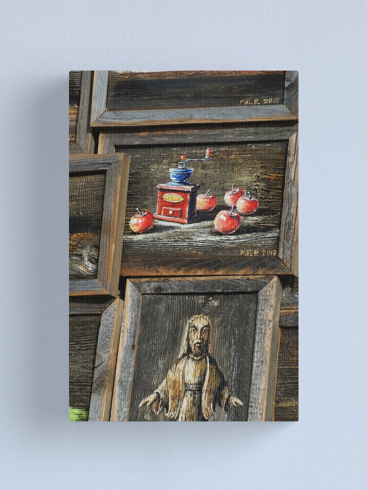 Alternate view of 2010 09 04 Vilnius 5, Painting on wood Canvas Print
