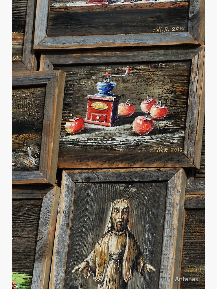 2010 09 04 Vilnius 5, Painting on wood by Antanas